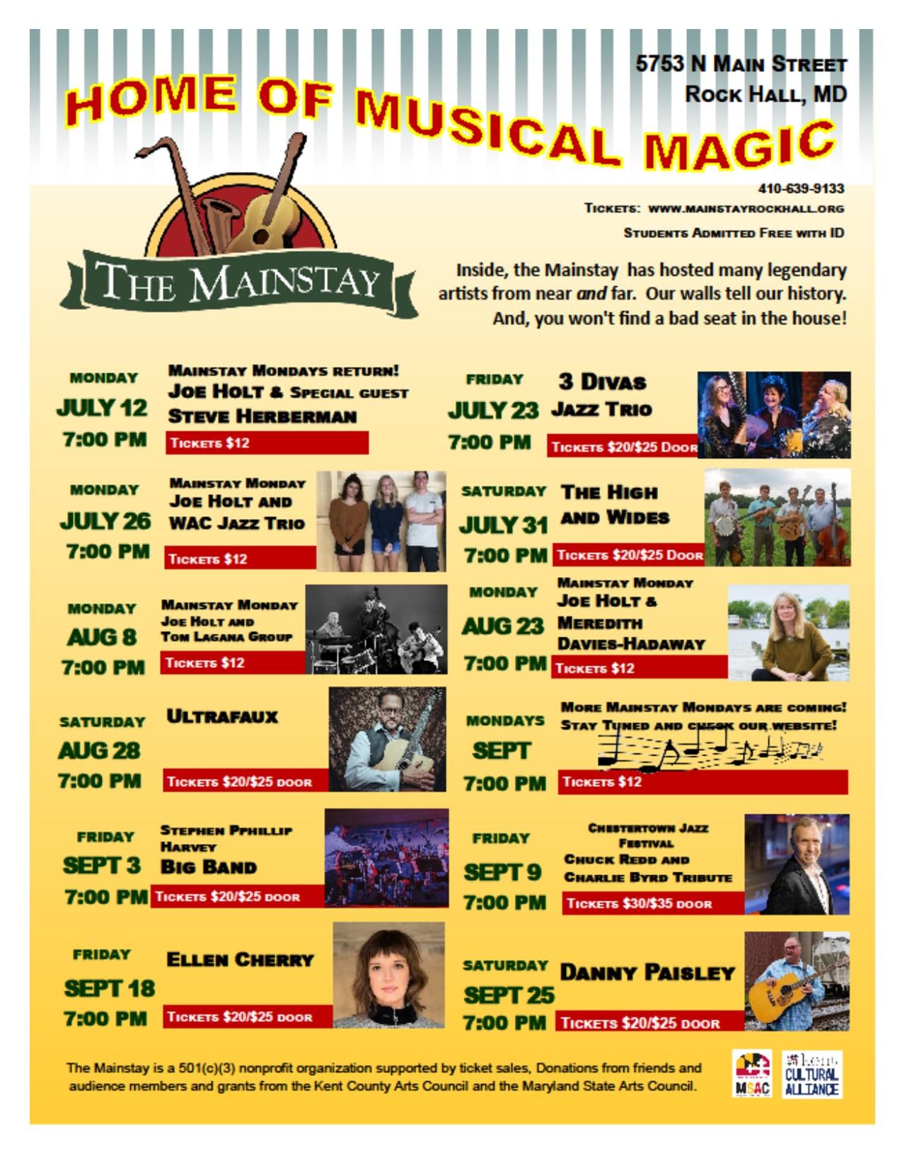 Mainstay Musical Magic Lineup