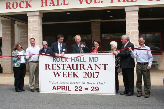 Maryland Comptroller Peter Franchot and State Delegate Jeff Ghrist joins  Mayor Brian Jones, and other elected officials to kick-off Rock Hall Restaurant Week!