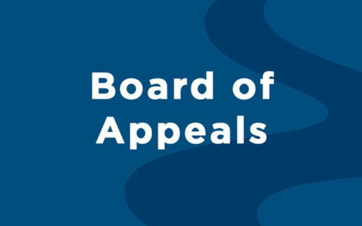 Board of Appeals
